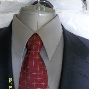 Soto33-26- Jos A Bank 2Btn Blue Houndtooth Suit